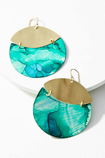 Movement Disc Drop Earrings