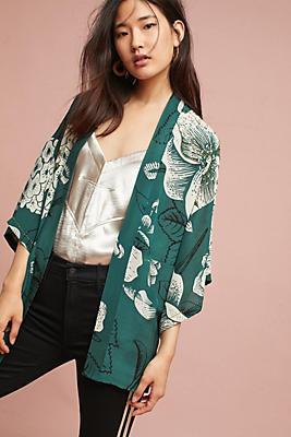 Slide View: 1: Verdure Floral Kimono