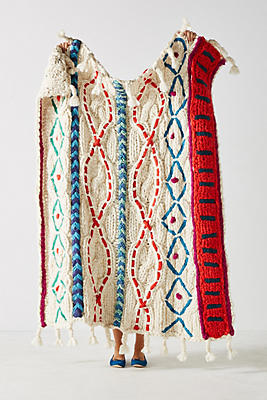 Slide View: 1: Embroidered Pippa Throw Blanket
