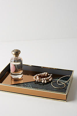 Slide View: 1: Rose Gold Vanity Tray