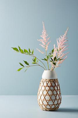 Slide View: 1: Woven Grass Vase