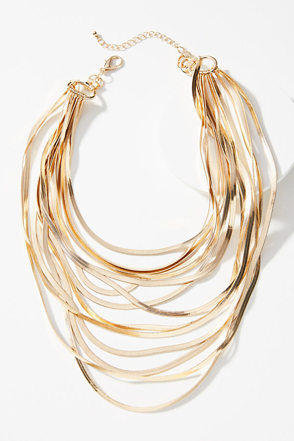 Snake Chain Layered Necklace - Gold