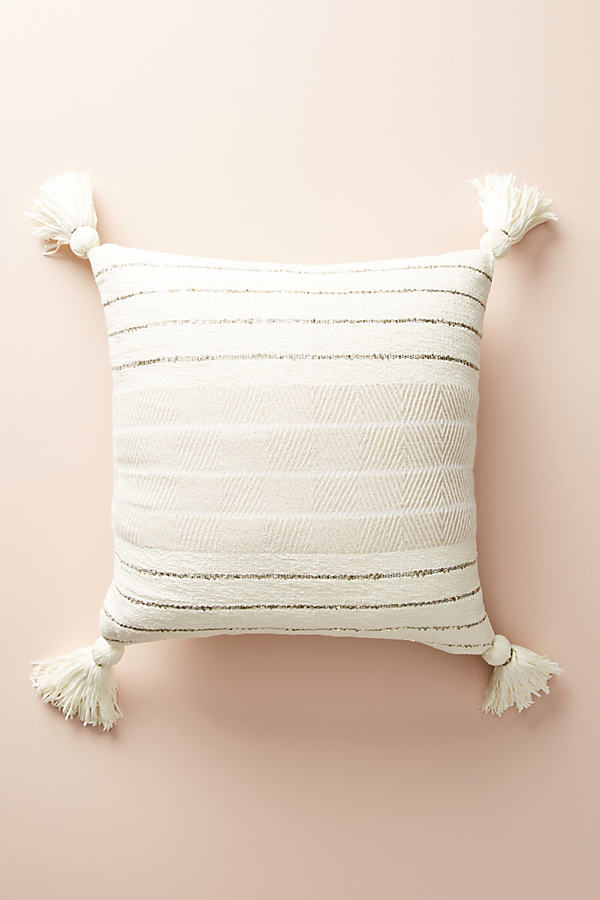 Caroline Tasseled Cushion - Ivory