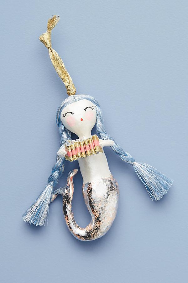 Merry Mermaid Ornament - Lavender
