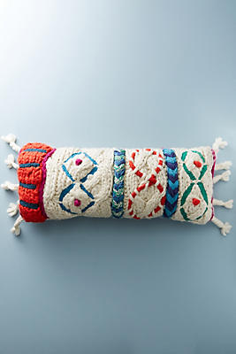 Slide View: 1: Embroidered Pippa Pillow