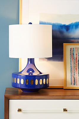 Slide View: 1: Spotted Gold Lamp Ensemble