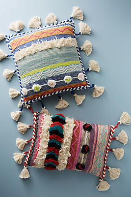 Slide View: 4: Embroidered Rami Pillow