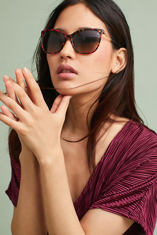 Slide View: 2: Etnia Barcelona Diamant Red Sunglasses