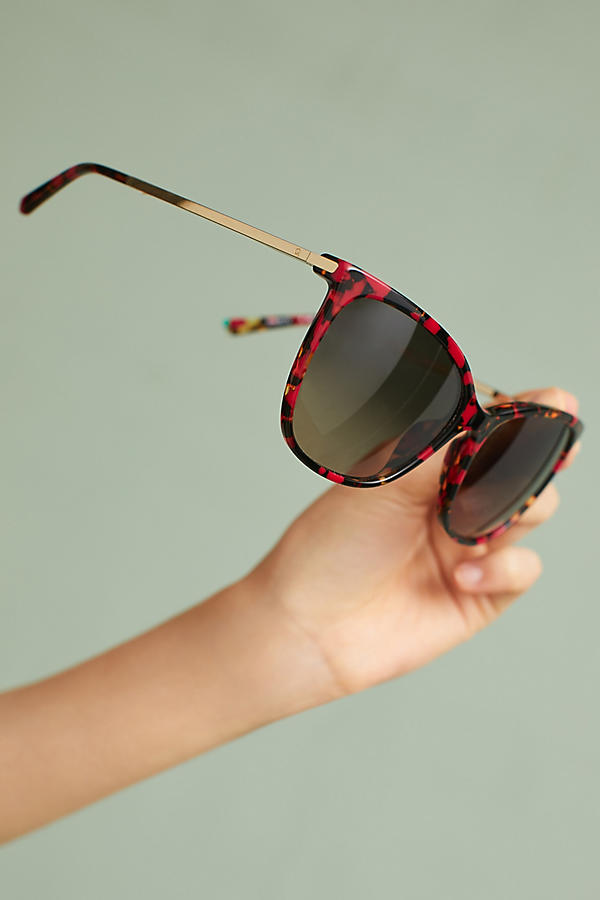 Slide View: 3: Etnia Barcelona Diamant Red Sunglasses