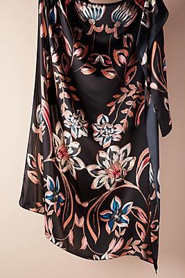 Slide View: 1: Romantic Floral Silk Scarf