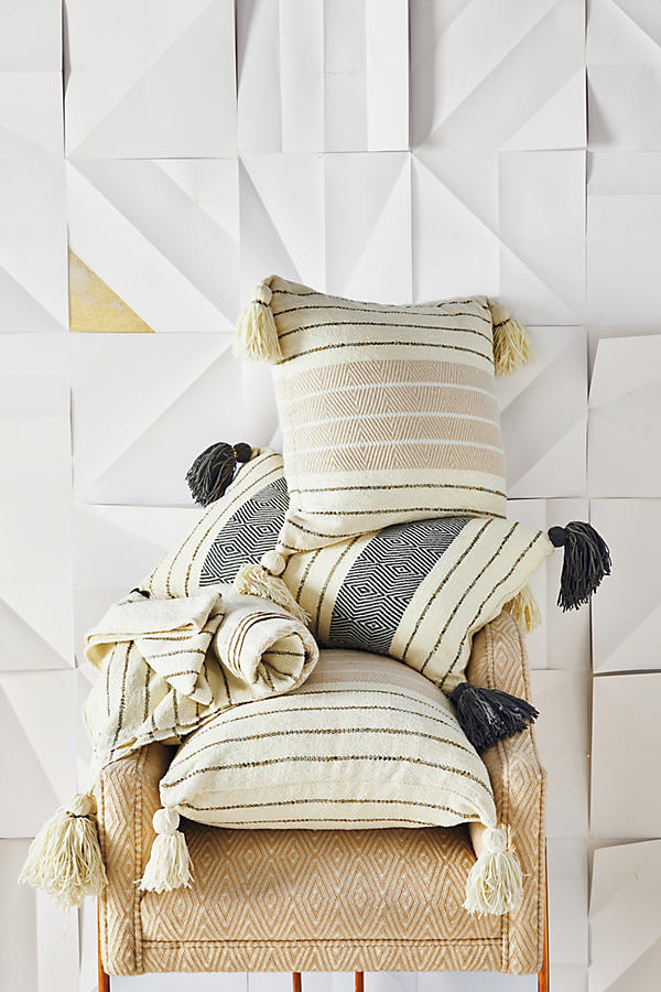 Slide View: 3: Caroline Tasseled Throw Blanket