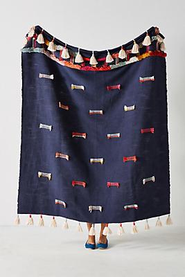 Slide View: 1: Embroidered Jamilla Throw Blanket