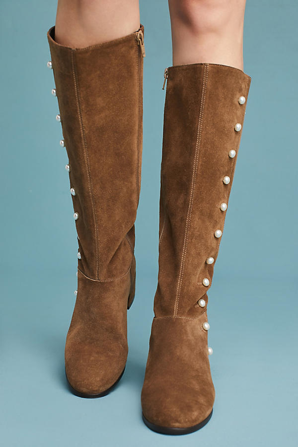 Slide View: 2: Elysess Knee-High Riding Boots