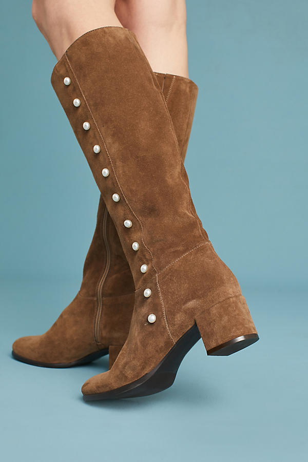 Slide View: 3: Elysess Knee-High Riding Boots