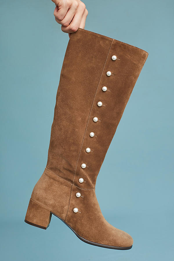 Slide View: 5: Elysess Knee-High Riding Boots