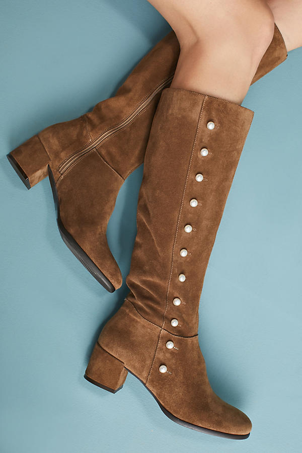 Slide View: 1: Elysess Knee-High Riding Boots