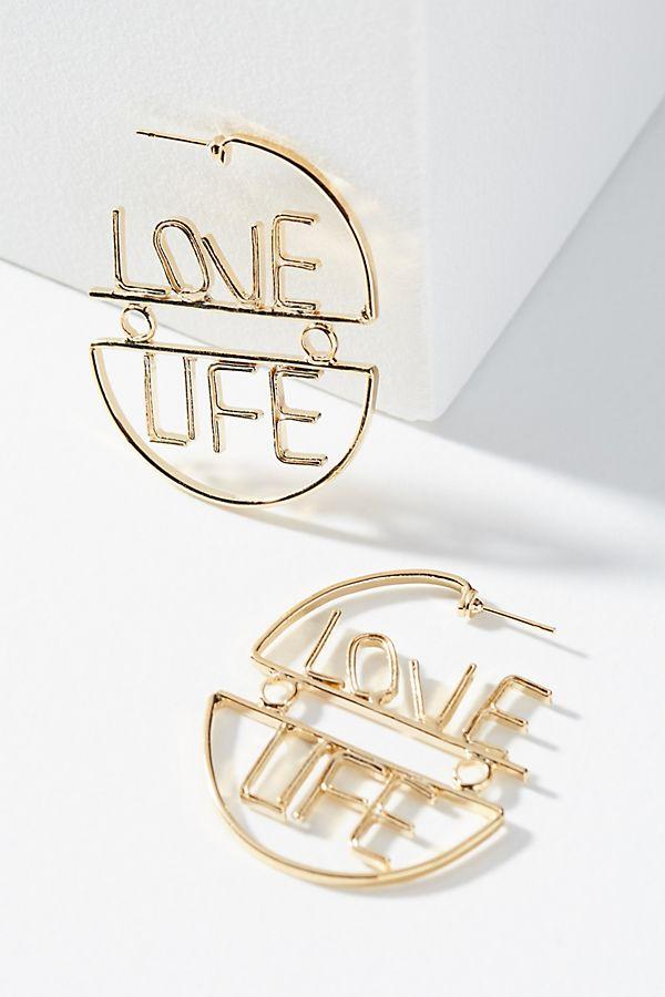 Love Life Hoop Earrings
