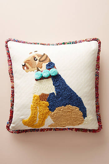 Embroidered Rufus Pillow