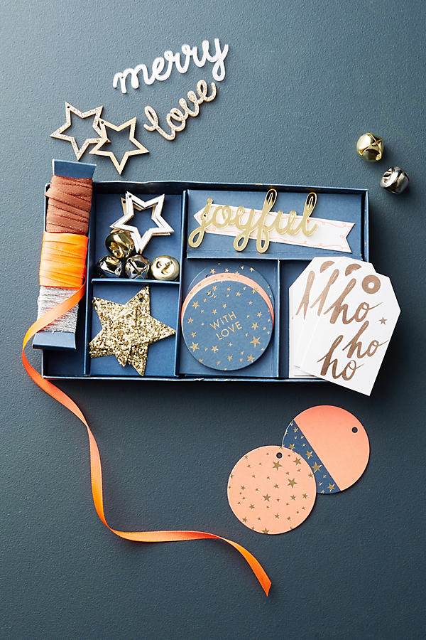Holiday Gift Tag Box Set - Navy