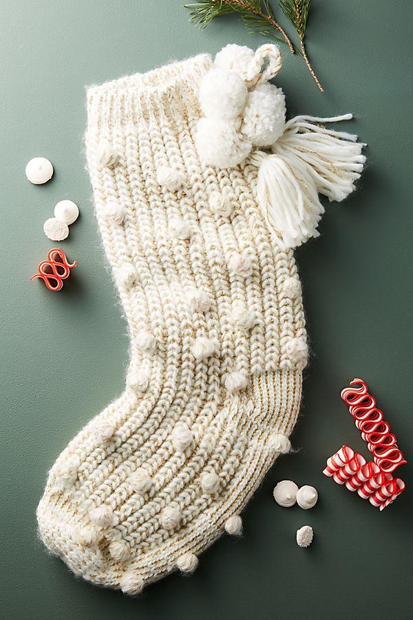 Pommed & Knit Stocking | Anthropologie
