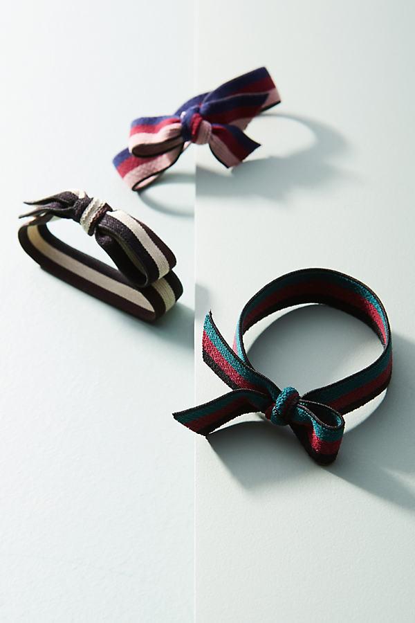 Ribbons & Bows Pony Holder Set - Navy