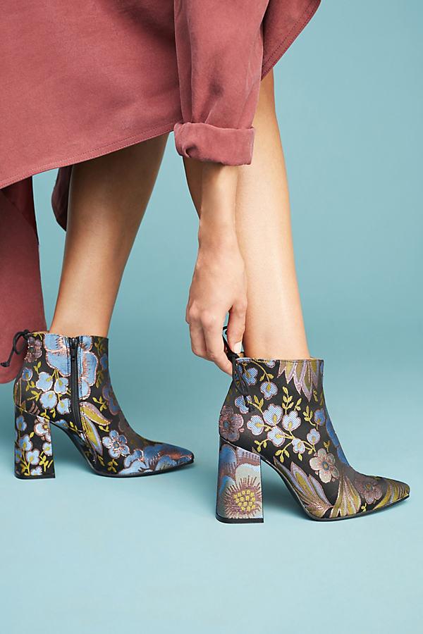 Jayne Printed Flare-Heeled Boots - Novelty, Size 37