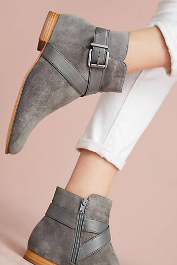 Cross Buckle Ankle Boots