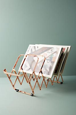 Slide View: 2: Rose Gold File Holder