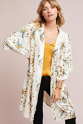 Slide View: 1: Dandelion Velvet Kimono