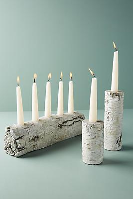 Slide View: 1: Shimmering Bark Candle Holder