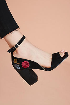 Slide View: 1: Nanette Lepore Martina Embroidered Heels