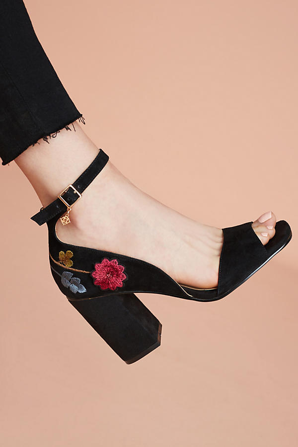 Nanette lepore martina embroidered heels anthropologie slide view 1 nanette lepore martina embroidered heels ccuart Image collections