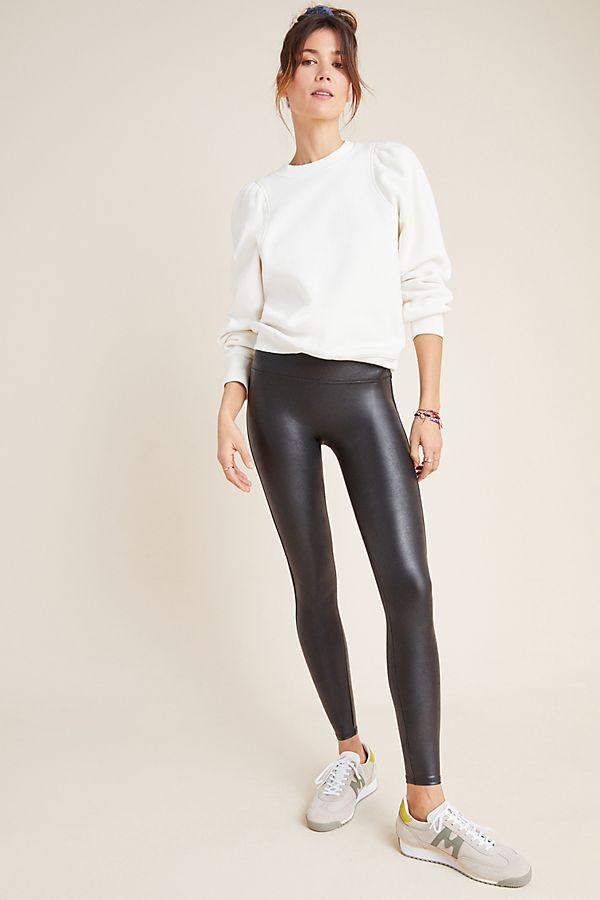 Slide View: 1: Spanx Faux Leather Leggings