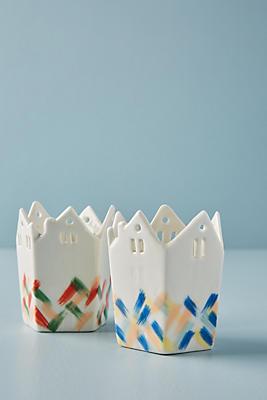 Slide View: 3: Ceramic House Votive