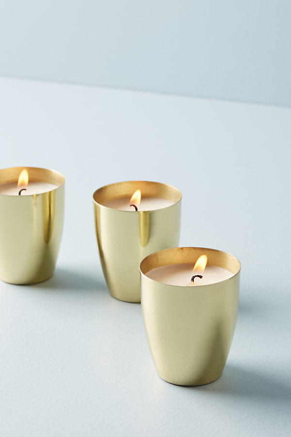 Candlefish Votive Candle Gift Set - Gold