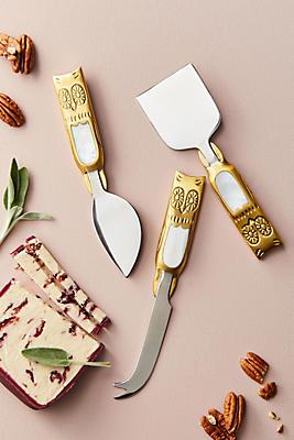 Slide View: 1: Larissa Cheese Knife Set