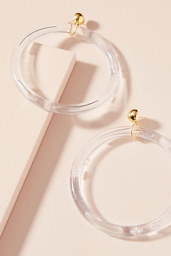 Oversized Lucite Hoop Earrings