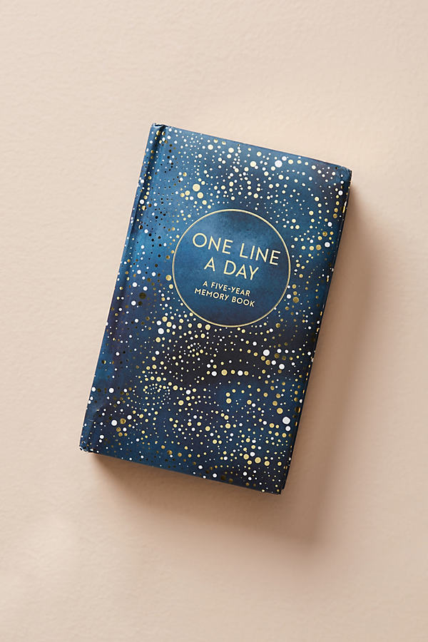 One Line A Day Memory Journal - Navy