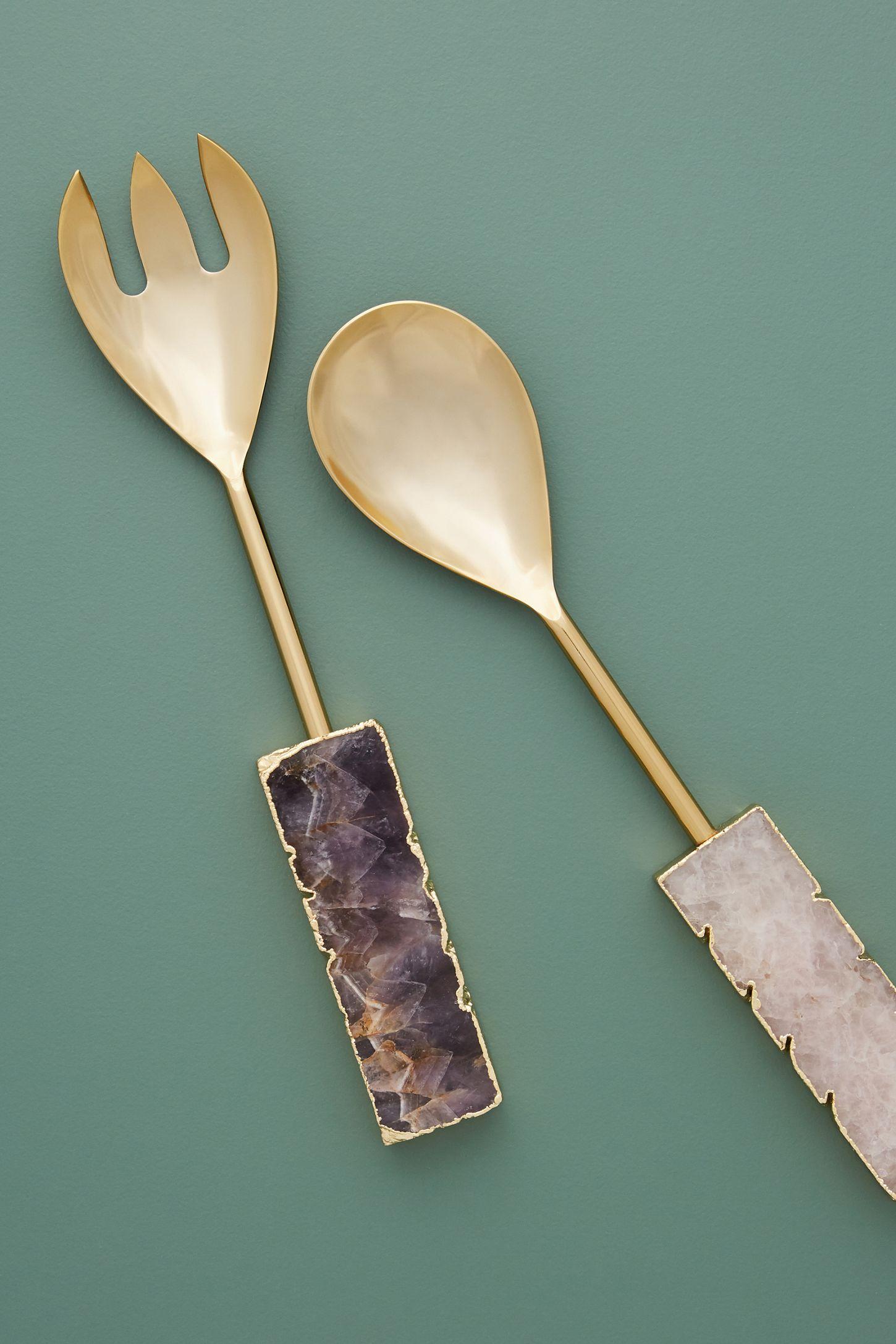 Agate Serving Utensils, Set of 2 | Anthropologie