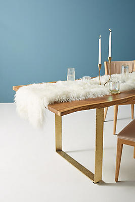 Slide View: 1: Luxe Wool Table Runner