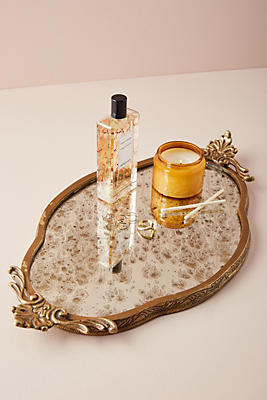 Slide View: 1: Antiqued Vanity Tray
