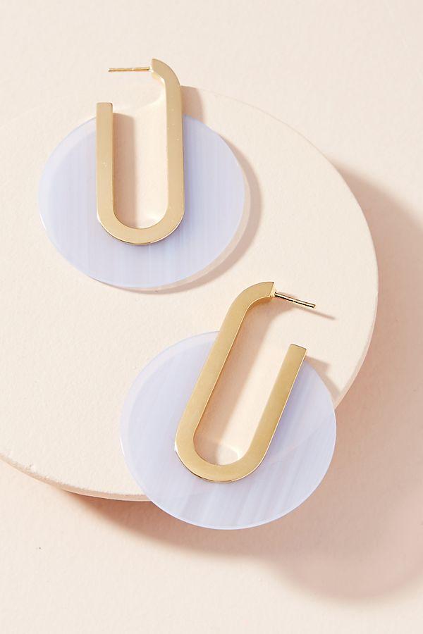 Pee Berlin Lucite Hoop Earrings