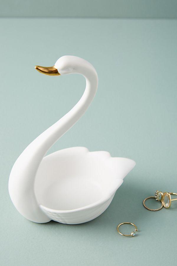 swan trinket dish anthropologie