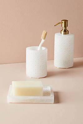 Slide View: 1: Etched Stone Soap Dispenser