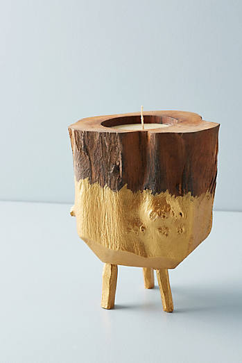 Volcanica Footed Teak Candle