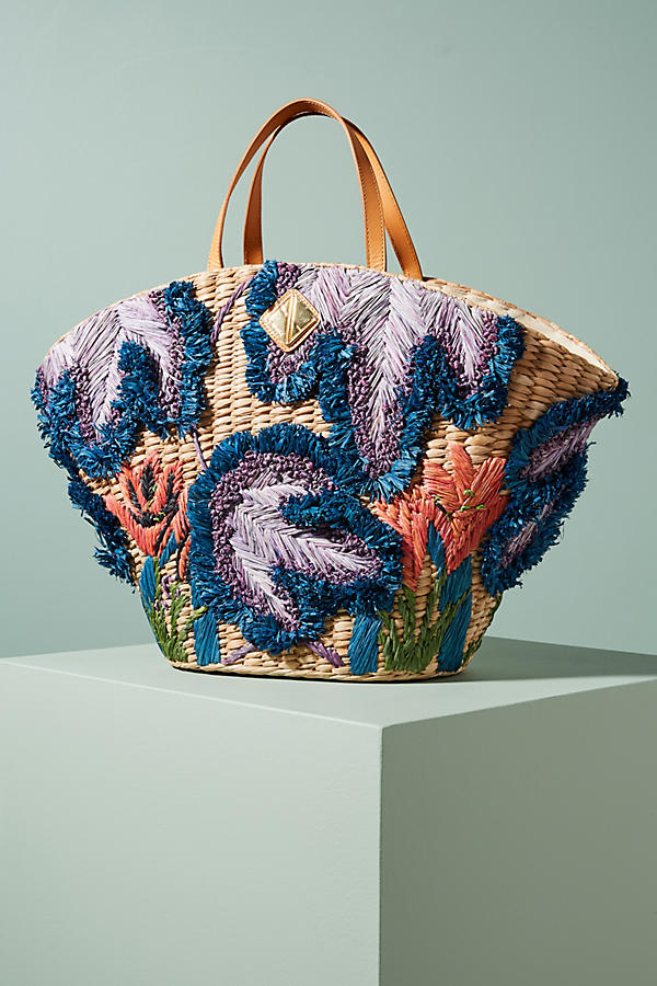 Jardin Embroidered Tote Bag