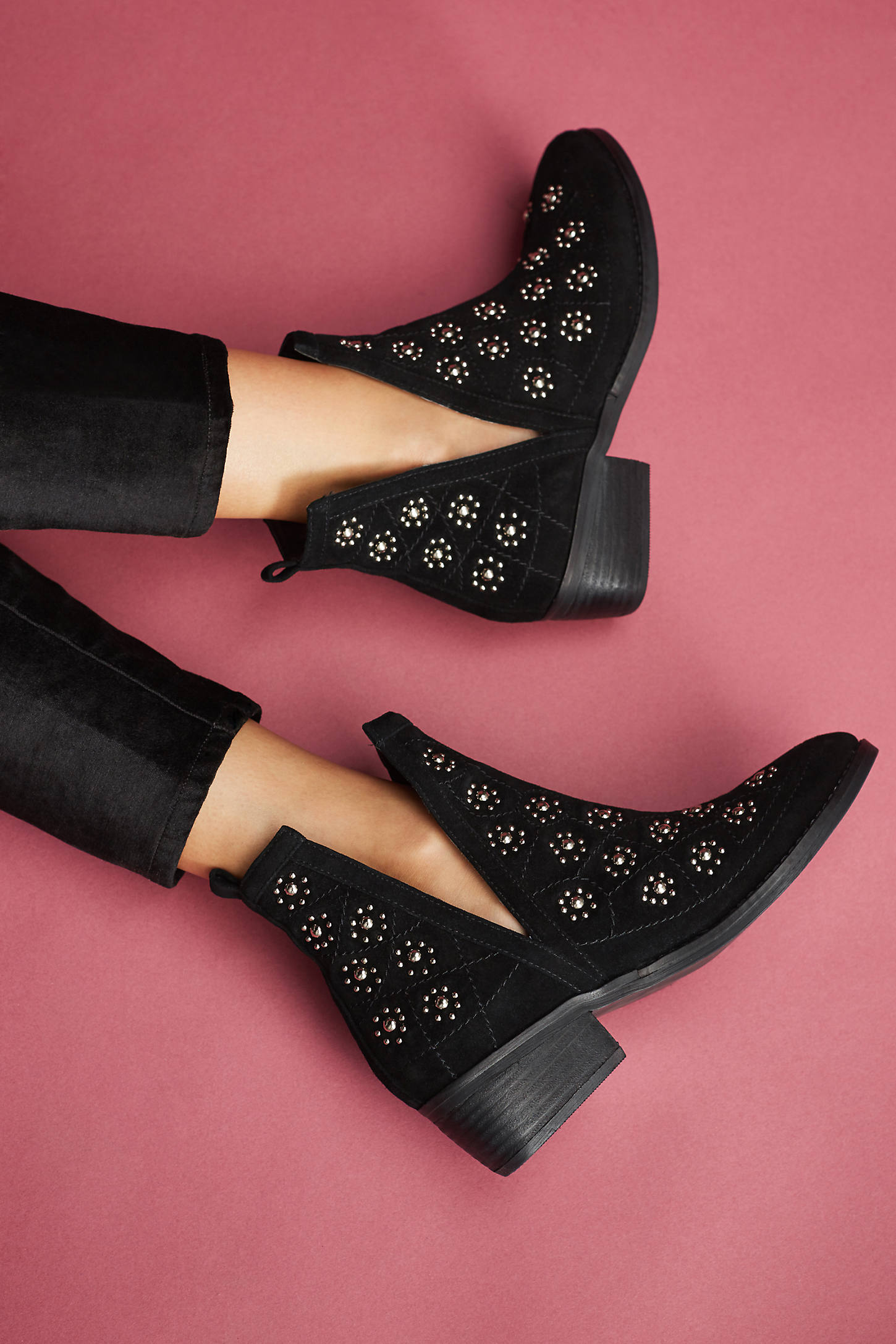 Silent D Studded Suede Boots
