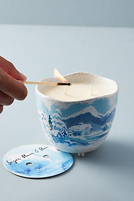 Slide View: 1: Candlefish Painted Ceramic Candle