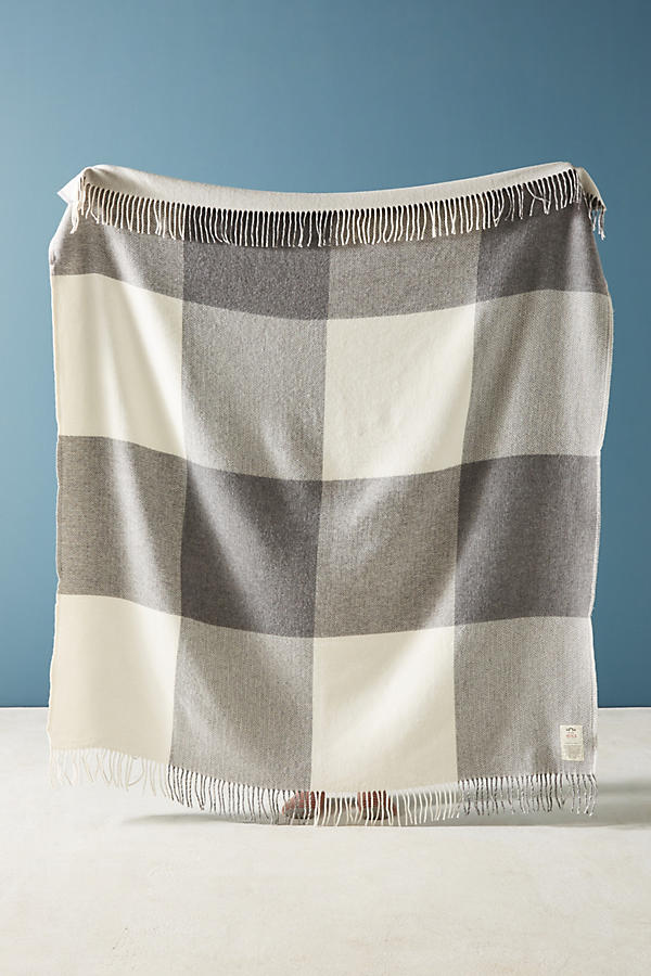 Slide View: 1: Avoca Reversible Cashmere Plaid Throw Blanket