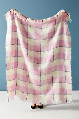 Slide View: 1: Avoca Mohair Throw Blanket